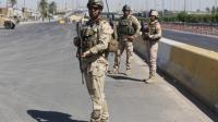Des soldats de l'armée irakienne à Bagdad