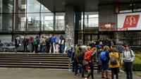 Entrée du campus de Lille 2, jeudi 5 avril 2018 [Philippe HUGUEN / AFP]