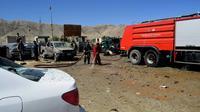 Le site d'un attentat suicide commis le 17 septembre 2019 lors d'un meeting électoral du président afghan Ashraf Ghani à Charikar, province de Parwan [ABDUL SHAHMIM TANHA / AFP]
