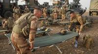 Des soldats français dressent un camp au Mali le 26 mars 2019 sur la route Gossi-Hombori, dans la région de Gourma [Daphné BENOIT / AFP]