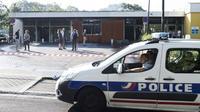 Un centre médical incencié au Breil, à Nantes, photographié le 4 juillet 2018 [SEBASTIEN SALOM GOMIS / AFP]