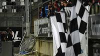 La barrière d'une tribune visiteurs qui s'est effondrée lors du match Amiens-Lille au stade de La Licorne, le 30 septembre 2017 [FRANCOIS LO PRESTI / AFP/Archives]
