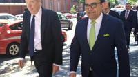 Le représentant américain au commerce Robert Lighthizer et le ministre mexicain de l'Economie Ildefonso Guajardo, le 23 octobre 2018 à Washington [Alina DIESTE / AFP]
