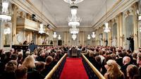 L'assemblée annuelle de l'Académie suédoise, qui décerne le prix Nobel de littérature, à Stockholm le 20 décembre 2018 [Henrik MONTGOMERY / TT News Agency/AFP/Archives]