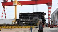 Les chantiers navals de STX France à Saint-Nazaire près de Nantes, le 27 juillet 2017 [DAMIEN MEYER / AFP]