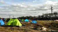 Des tentes de migrants près de Calais, le 18 février 2019 [PHILIPPE HUGUEN / AFP/Archives]