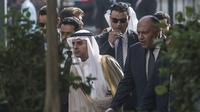 Le chef de la diplomatie égyptienne Sameh Shoukri (D) et son homologue saoudien, Adel al-Jubeir (G), le 10 janvier 2016 au Caire   [KHALED DESOUKI / AFP]