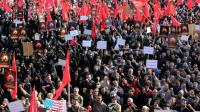 Manifestation le 4 janvier 2016 à Téhéran contre l'exécution de Nimr al-Nimr en Arabie [ATTA KENARE / AFP]