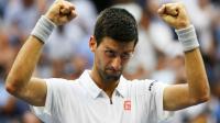 Novak Djokovic à l'issue de sa victoire sur Gaël Monfils en demi-finale de l'US Open, le 9 septembre 2016 [Alex Goodlett / Getty/AFP]
