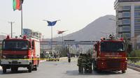 Mobilisation des pompiers lors d'un attentat suicide à Kaboul le 9 septembre 2018. [- / AFP/Archives]