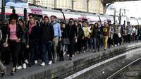 La gare Saint-Lazare, le 24 avril 2018 à Paris, lors d'une grève à la RATP   [BERTRAND GUAY / AFP/Archives]
