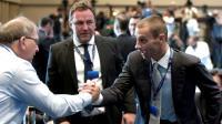 Aleksander Ceferin, le 14 septembre 2016 lors du congrès de l'UEFA à Athènes [ARIS MESSINIS / AFP]