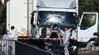 Le camion de l'attentat de Nice en France, le 15 juillet 2016   [ANNE-CHRISTINE POUJOULAT / AFP]