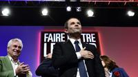 Le candidat socialiste à l'élection présidentielle Benoît Hamon, en meeting au Zénith de Nancy, à Maxéville, le 5 avril 2017 [PHILIPPE LOPEZ / AFP]