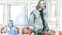 Dessin illustrant Toni Musulin au tribunal de Lyon, le 14 septembre 2010 [Benoit Peyrucq / AFP/Archives]