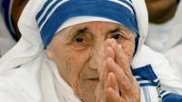 Mère Teresa à New Delhi le 15 mai 1997 [RAVI RAVEENDRAN / AFP/Archives]