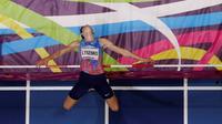 L'athlète russe Danil Lysenko, lors des Championnats du monde d'athlétisme indoor de Birmingham, au Royaume-Uni, le 1er mars 2018 [Adrian DENNIS / AFP/Archives]