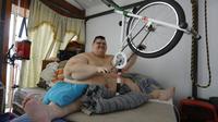 Le Mexicain Juan Pedro Franco à sa maison à Guadalajara, au Mexique, le 17 février 2018 [ULISES RUIZ / AFP]