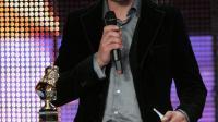 """L'acteur français Eric Ruf après avoir reçu  un Molière, le 14 mai 2007 pour un second rôle dans """"Cyrano de Bergerac"""" [Pierre Verdy / AFP]"""