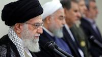 Le guide suprême l'ayatollah Ali Khamenei le 29 août 2018 à Téhéran (tranmise par le gouvernement iranien) [Handout / KHAMENEI.IR/AFP]