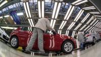 Dans l'usine PSA de Sochaux, le 6 mars 2014 [Sebastien Bozon / AFP/Archives]