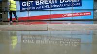 La façade du Palais des congrès de Manchester avant la réunion des conservateurs britanniques, le 28 septembre 2019 [Oli SCARFF / AFP]