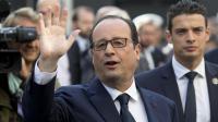 Le président français François Hollande salue après une cérémonie d'hommage à Jean Jaurès à Paris le 31 juillet 2014 [Kenzo Tribouillard / AFP/Archives]
