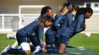 Les Bleues à l'entraînement, le 15 mai 2019 à Clairefontaine. [FRANCK FIFE / AFP]