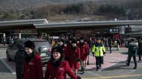 Arrivée de la délégation nord-coréenne pour les JO d'hiver, le 7 février 2018 à Gapyeong   [Ed JONES / AFP/Archives]