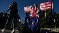 Manifestation anti-Brexit devant le Parlement britannique, le 29 août 2019 [DANIEL LEAL-OLIVAS / AFP]