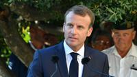 Emmanuel Macron à Bormes-les-Mimosas, le 17 août 2018 [Yann COATSALIOU / AFP/Archives]