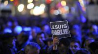 Manifestation en hommage aux victimes de Charlie Hebdo, le 7 janvier 2015 à Clermont-Ferrand [THIERRY ZOCCOLAN / AFP/Archives]