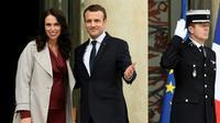 Le président Emmanuel Macron et la Première ministre néo-zélandaise Jacinda Ardern au palais de l'Elysée à Paris le 16 avril 2018 [BERTRAND GUAY / AFP/Archives]
