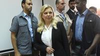 Sara Netanyahu arrive au tribunal à Jérusalem, le 16 juin 2018 [DEBBIE HILL / AFP]
