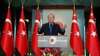 Le président turc Recep Tayyip Erdogan, le 13 août 2018 à Ankara [KAYHAN OZER / TURKISH PRESIDENTIAL PRESS SERVICE/AFP]