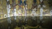 Photo prise le 29 septembre 2015 du sarcophage de Toutankhamon dans la vallée des Rois près de Louxor [KHALED DESOUKI / AFP/Archives]