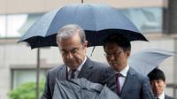 L'ex-PDG de Renault-Nissan Carlos Ghosn, à son arrivée au tribunal de Tokyo, le 24 juin 2019 [Kazuhiro NOGI / AFP/Archives]