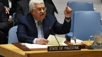 Le président palestinien Mahmoud Abbas s'adresse devant le conseil de sécurité de l'ONU, le 20 février 2018 à New  York [TIMOTHY A. CLARY / AFP]
