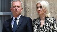 François de Rugy et sa femme Séverine Sevrat de Rugy le 17 juillet 2019 au ministère de l'Environnement à Paris [Alain JOCARD / AFP/Archives]