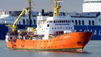 Le navire Aquarius dans le port de Catane en Sicile le 21 mars 2017 [Giovanni ISOLINO / AFP/Archives]