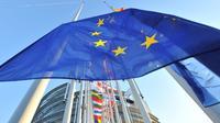 Les drapeaux européens le 16 janvier 2012 devant le Parlement européen à Strasbourg, dans l'est de la France [Georges Gobet / AFP/Archives]
