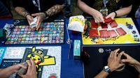 Que la compétition commence: plus de 7.500 personnes sont attendues aux championnats du monde de Pokémon ce week-end dans la capitale américaine   [Brendan Smialowski / AFP]