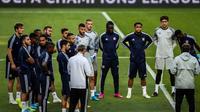 Les joueurs de Lyon à l'entraînement, le 22 octobre 2019 à Lisbonne [CARLOS COSTA / AFP]