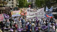 Manifestation des personnels des urgences à l'appel du collectif Inter-Urgences le 6 juin 2019 à Paris [Aurore MESENGE / AFP/Archives]