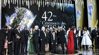 Les lauréats de la 42e cérémonie des Cesars, le 24 février 2017 salle Pleyel à PAris [bertrand GUAY / AFP/Archives]