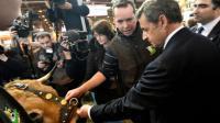 Nicolas Sarkozy au Salon de l'Agriculture le 2 mars 2016 à Paris [DOMINIQUE FAGET / AFP]