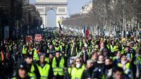 """Manifestation de """"gilets jaunes"""" sur les Champs Elysées, le 16 février 2019, à Paris [Eric FEFERBERG / AFP/Archives]"""