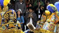Le président bolivien Evo Morales au carnaval d'Oruro, le 6 février 2016 [AIZAR RALDES / AFP]