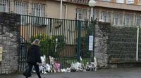 Hommage devant la gendarmerie nationale, à Carcassonne le 24 mars 2018 au lendemain de l'attaque qui a fait quatre morts dont un lieutenant-colonel [PASCAL PAVANI                        / AFP]
