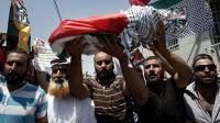 Funérailles du bébé palestinien tué par des extrémistes juifs, le 3 août 2015 dans le village de Douma en Cisjordanie [THOMAS COEX / AFP/Archives]